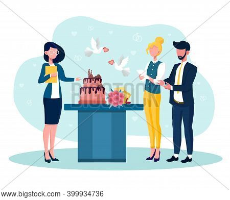 Event Manager Presenting Event Plan For Celebration. Concept Of Celebration Or Meeting Organization.
