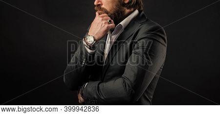 Wristwatch Businessman Wrist Formal Suit Accessory, Jewelry Shop Concept