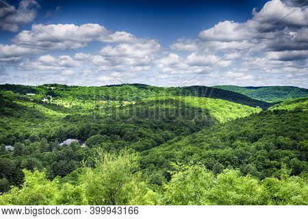 The Rolling Hills Of Litchfield County At The Hidden Valley Nature Preserve In Washington Depot Conn