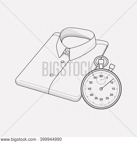 Express Dry Cleaning Icon Line Element. Vector Illustration Of Express Dry Cleaning Icon Line Isolat