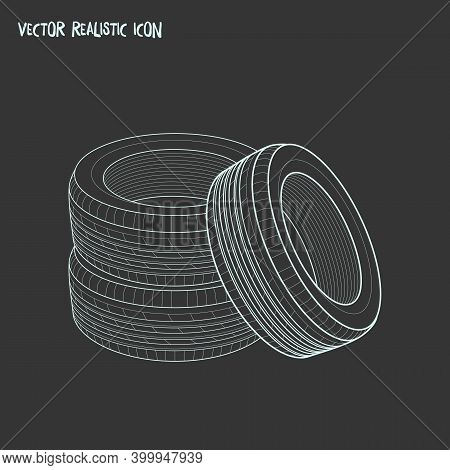 Tyres Icon Line Element. Vector Illustration Of Tyres Icon Line Isolated On Clean Background For You