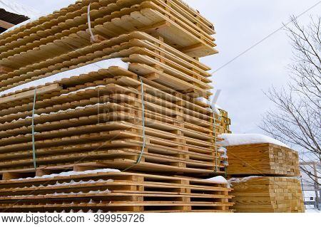 Wooden Fence Pallets Wooden Stack Material Plank