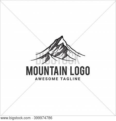 Mountain. Mountain Logo. Mountain Icon. Mountain Vector. Mountain Illustration. Mountain Design. Mou
