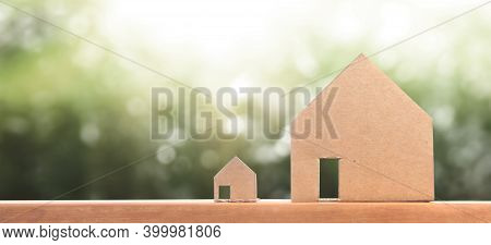 House Model There Space. Home Real Estate Concept