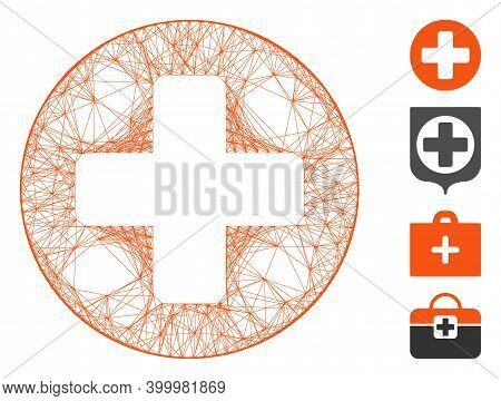 Vector Wire Frame Create Cross. Geometric Wire Frame Flat Network Generated With Create Cross Icon,