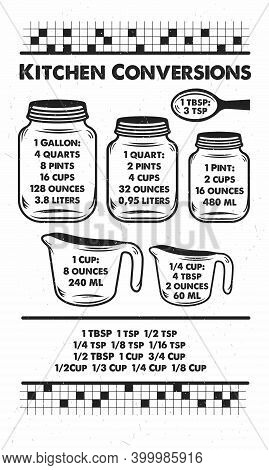 Kitchen Conversions. Hand-drawn Typography Poster. Inspirational Vector Typography. Vector Calligrap