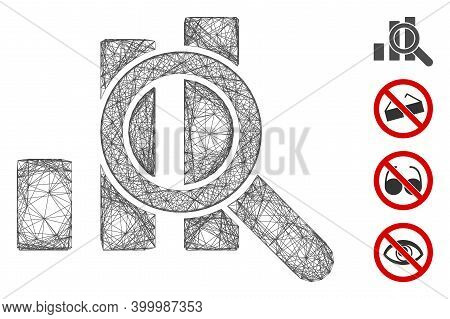Vector Wire Frame Explore Graphics. Geometric Wire Carcass Flat Network Made From Explore Graphics I