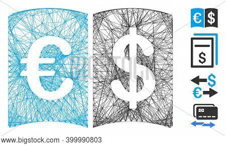 Vector Network International Catalog. Geometric Wire Carcass Flat Network Made From International Ca