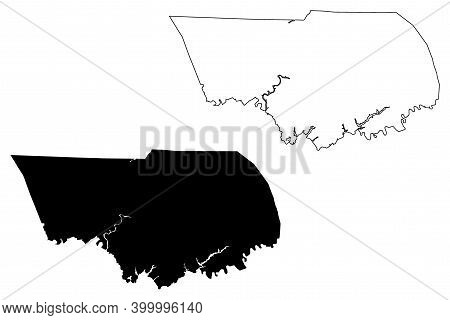 Claiborne County, State Of Tennessee (u.s. County, United States Of America, Usa, U.s., Us) Map Vect