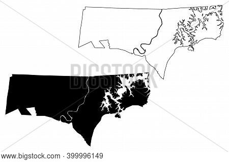 Clay County, State Of Tennessee (u.s. County, United States Of America, Usa, U.s., Us) Map Vector Il