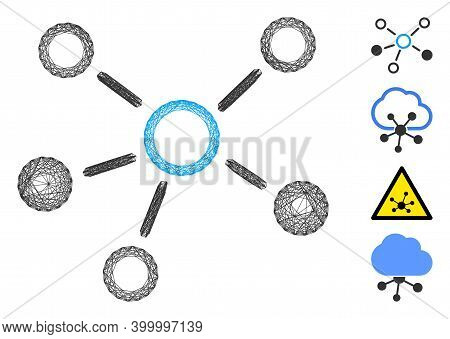 Vector Wire Frame Relations. Geometric Wire Frame Flat Net Made From Relations Icon, Designed From C