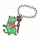 cartoon shouting imp poster