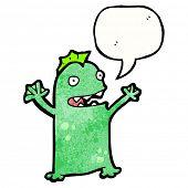cartoon happy swamp monster poster
