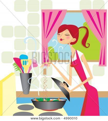 Koken vrouw