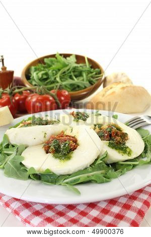 Stuffed Mozzarella And Arugula