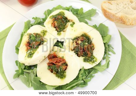 Stuffed Mozzarella And Basil
