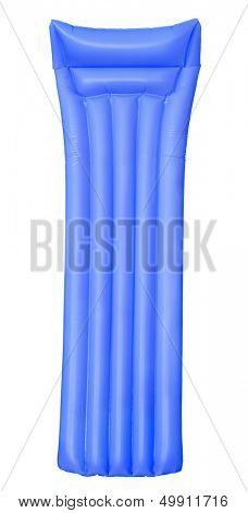 Blue air pool matress isolated on white