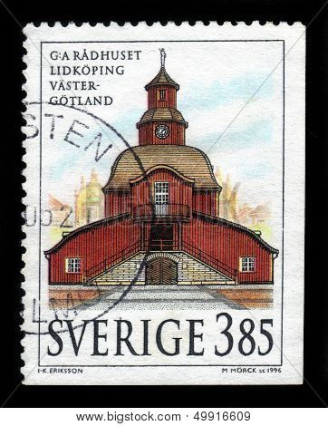 Old Town Hall In Gotland, Sweden
