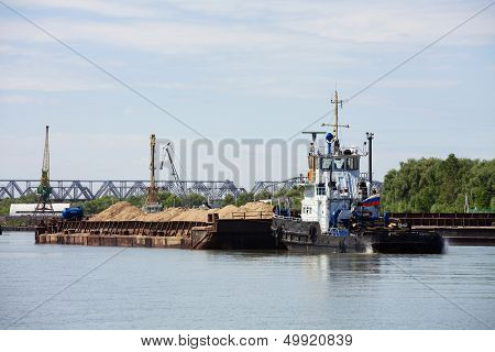 Barge With Sand