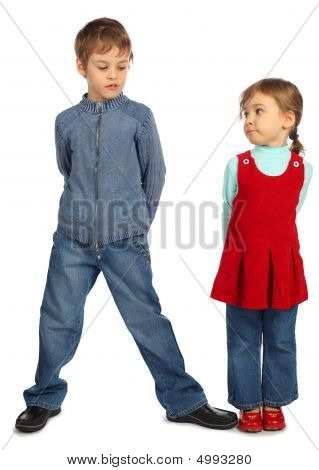 Boy With Girl Represent  Letter N