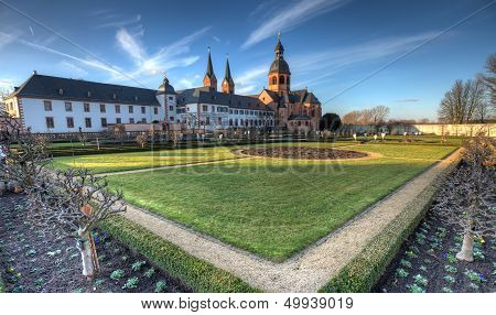 Herb Garden And Abbey