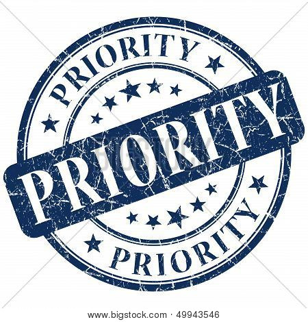 priority stamp - grunge stamp on white background poster
