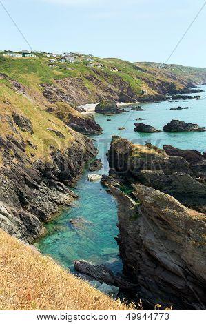 Rugged coast of England Whitsand bay Cornwall