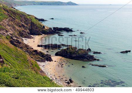 Whitsand Bay beach Cornwall coast England UK