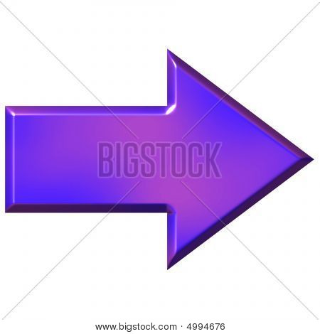 3D Purple Arrow