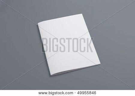 Blank Closed Magazine Isolated On Grey