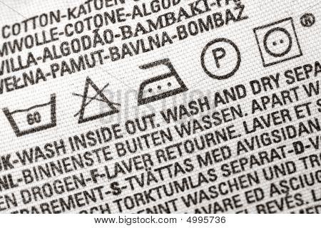 Laundry Advice Clothing Tag