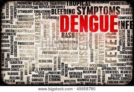 Dengue Fever Concept as a Medical Disease Art