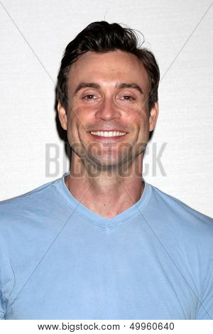 LOS ANGELES - AUG 25:  Daniel Goddard at the Goddard and Khalil Fan Event at the Universal Sheraton Hotel on August 25, 2013 in Los Angeles, CA