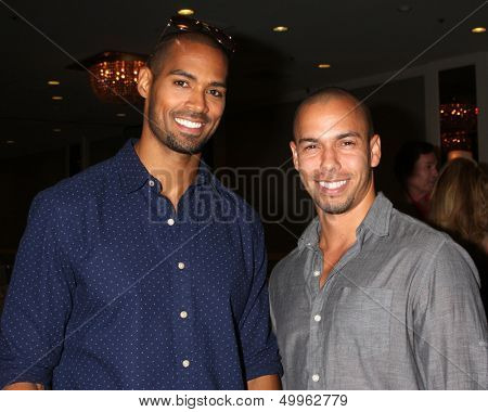 LOS ANGELES - AUG 24:  Lamon Archey, Bryton James at the Young & Restless Fan Club Dinner at the Universal Sheraton Hotel on August 24, 2013 in Los Angeles, CA