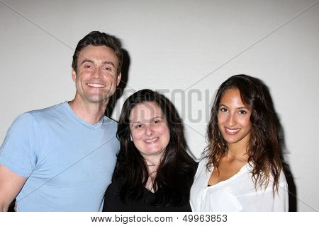 LOS ANGELES - AUG 25:  Daniel Goddard, Cathy Tomas, Christel Khalil at the Goddard and Khalil Fan Event at the Universal Sheraton Hotel on August 25, 2013 in Los Angeles, CA