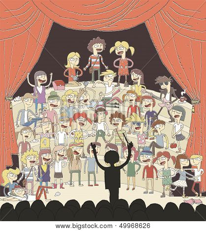 Funny School Choir Singing