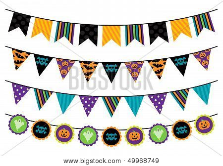 Vector Collection of Halloween Themed Bunting