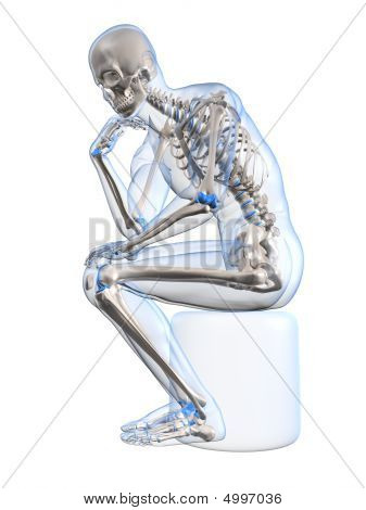 Thinking Skeleton