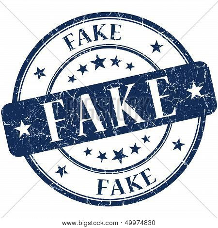 Fake Blue Stamp