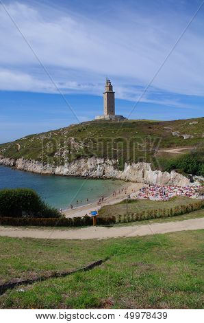 Beach In The The Hercules Tower