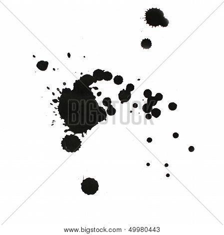poster of ink watercolor paint splatter splash grunge background black blot abstract texture splat art spray
