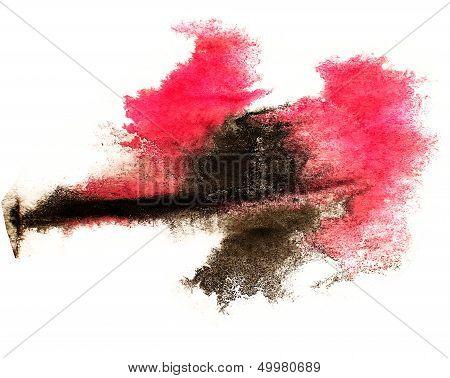 ink red black watercolor paint splatter splash grunge background blot abstract texture splat art spray poster