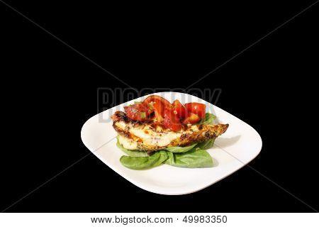 Chicken Breast served on spinach