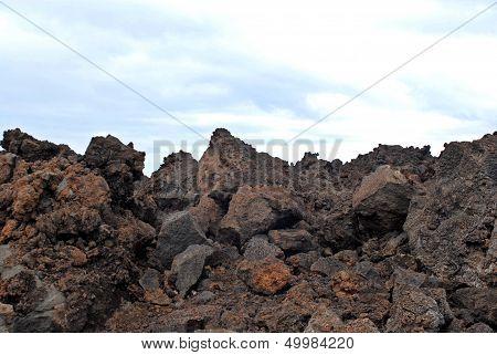 Jagged Volcanic Rocks
