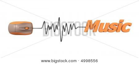 Word Music With Mouse – Orange