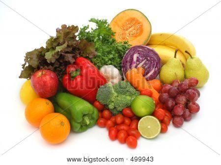 Kleurrijke vers groep van groenten en fruit