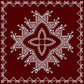 Folk, Tribal Design, Motif, Wall Painting poster