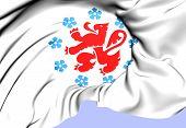 German-Speaking Community of Belgium Flag. Close Up. poster