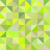 Abstract triangles geometry vector light green background poster