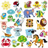 big set with pictures for babies and little kids poster